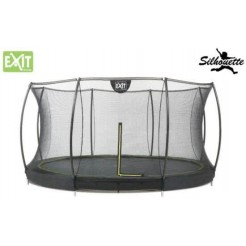 EXIT Silhouette 12 Ground Trampoline met Safetynet 366cm (12ft)
