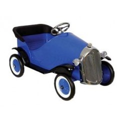 Oldtimer Blue Sedan Metalen Trapauto