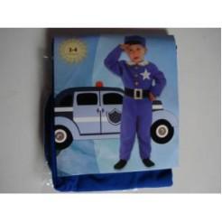 Clown Kinderkostuum Politie 3-4 jaar