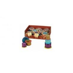 B.Toys 73123 3 Stapel Zand- en Waterspeeltjes met Gaatjes Assorti