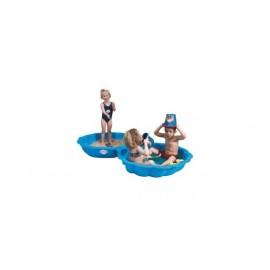 Zandbak Schelp Blauw 102x88cm