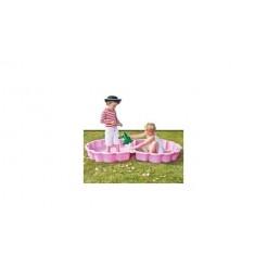 Roze Zandbak Schelp 87x78cm