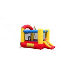 Slide and Hoop Bouncer Springkasteel met Glijbaan