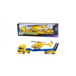 112 Ambulance Set Truck + Auto + Helikopter