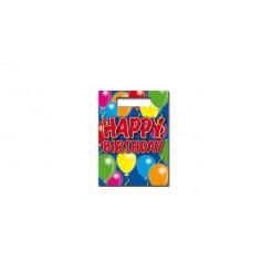 Happy Birthday Feestzakjes 8 Stuks