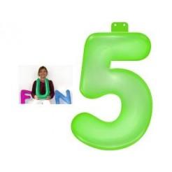 Funtext Opblaasbaar Cijfer 5 Groen