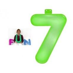 Funtext Opblaasbaar Cijfer 7 Groen