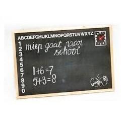 Wand Schoolbord met Klok