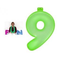 Funtext Opblaasbaar Cijfer 9 Groen