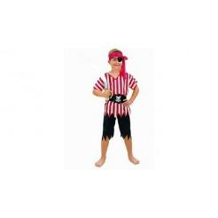 Clown Kinderkostuum Piraat 4-6 jaar