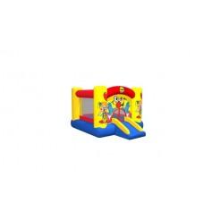 Clown Slide and Hoop Bouncer Springkasteel met Glijbaan
