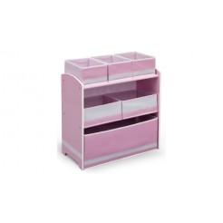 Delta Children TB84600GN Houten Speelgoed Opbergkast Roze/Wit