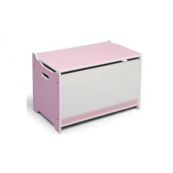 Delta Children TB84605GN Houten Speelgoed Opbergkist Roze/Wit