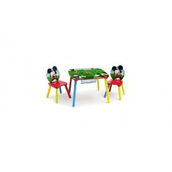Disney Mickey Mouse TT89462MM Tafel met 2 Stoelen + Opbergruimte