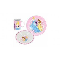 Disney Princess 3-delige Porseleinen Ontbijt Set