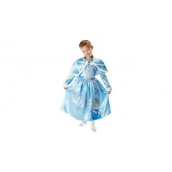 Disney Princess Assepoester Verkleedjurk met Cape 5-6 Jaar