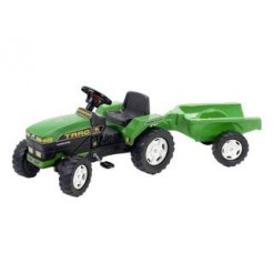 Falk Tractor 876A Groen met Aanhanger