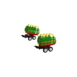 Falk Maxi Farm Wagon Aanhanger met Dubbele As
