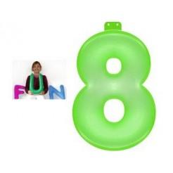 Funtext Opblaasbaar Cijfer 8 Groen