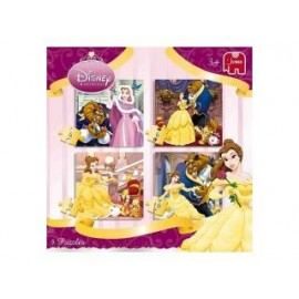 Jumbo Beauty and the Beast 4 in 1 Puzzel