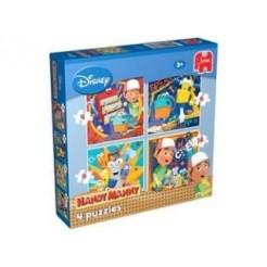 Jumbo Disney Handy Manny 4 in 1 Puzzel