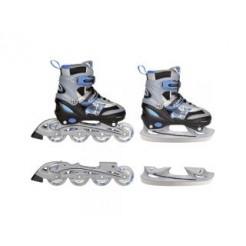 Nijdam Inline Skates/Schaatsen Combi  Blauw/Zwart 30-33