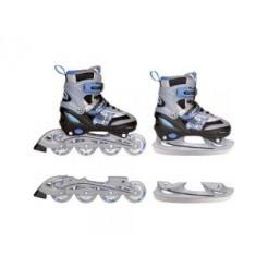 Nijdam Inline Skates/Schaatsen Combi Blauw/Zwart 34-37