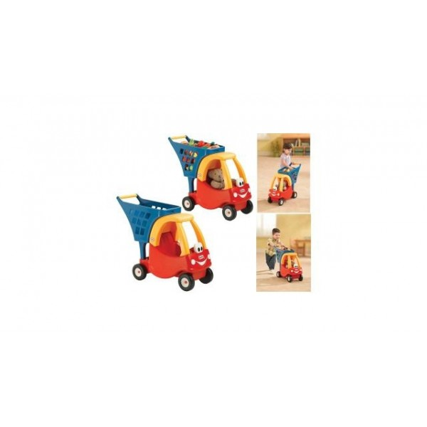 Little Tikes Auto Peuterbed.Groot Speelgoed Little Tikes Cozy Winkelwagen Shopspeelgoed Nl