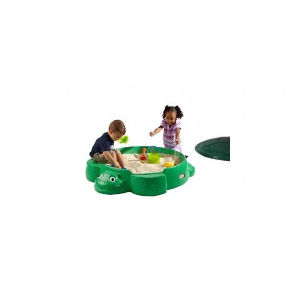 Peuterbed Little Tikes.Little Tikes Zandbak Turtle 109x120x38cm Met Deksel Shopspeelgoed Nl