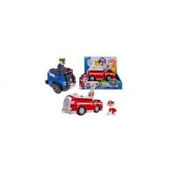 Paw Patrol Politie- of Brandweerauto met Figuurtje Assorti
