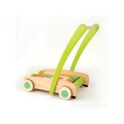 Pintoy Toddler Duwwagen met Blokken
