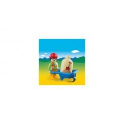 Playmobil 123 6961 Arbeider Met Kruiwagen