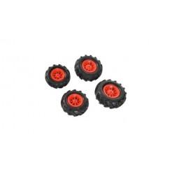 Rolly Toys 409853 4 Luchtbanden voor RollyJunior en RollyFarmtrac Tractoren Rood