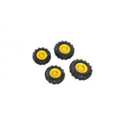 Rolly Toys 409860 4 Luchtbanden voor RollyJunior en RollyFarmtrac Tractoren Geel
