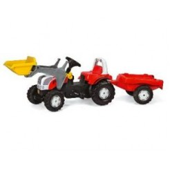Rolly Toys 023936 RollyKid Steyr 6190CVT Tractor met Lader en Aanhanger
