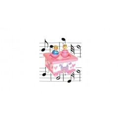 Simply for Kids Houten Muziekdoosje Prins & Prinses