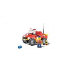 Sluban Fire Alarm M38-B0217 Brandweerjeep 118-delig