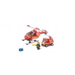 Sluban Fire Alarm M38-B0219 Brandweerhelikopter en Brandweerwagen 211-delig