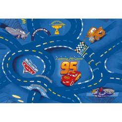 Disney Cars Blue Speelkleed 95x133cm