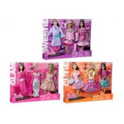 Barbie Kleding + Accessoires 3 Assorti
