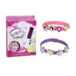 Disney Princess 3 Armbanden + 18 Bedels