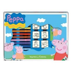 Peppa Pig Kleur + Stempel Doos 22-delig