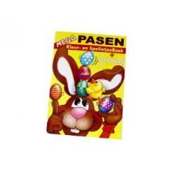 Groot Paas Kleur- en Spelletjes- en Stickerboek A3