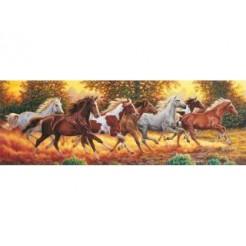 Clementoni 1000 Panorama Horses Puzzel 1000 stukjes