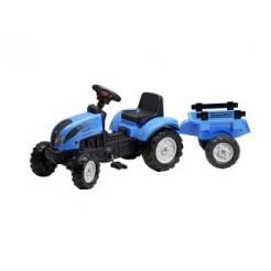 Falk Landini Tractor + Aanhanger Blauw 2/5