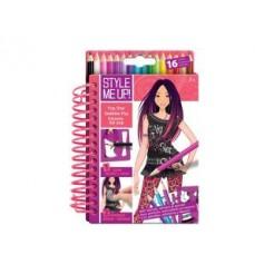 Style Me Up Popster Designer Schetsboek + Potloden